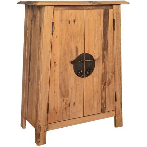 Armario auxiliar cuarto baño madera reciclada pino 59x32x80 cm - Marrón