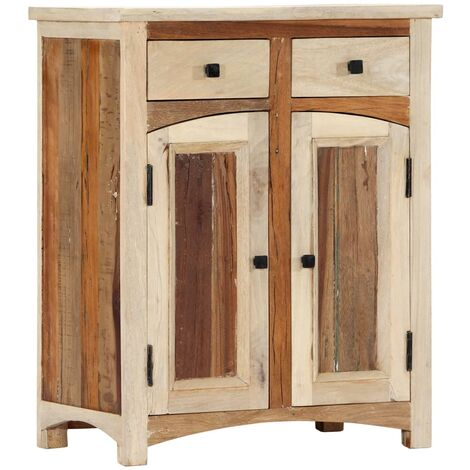 Armario auxiliar de madera maciza reciclada 60x30x75 cm