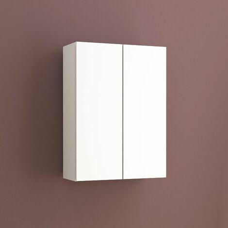"""main image of """"Armario auxiliar multiusos de dos puertas. Medidas: largo 54cm, alto 74cm, fondo 21cm. Color blanco."""""""