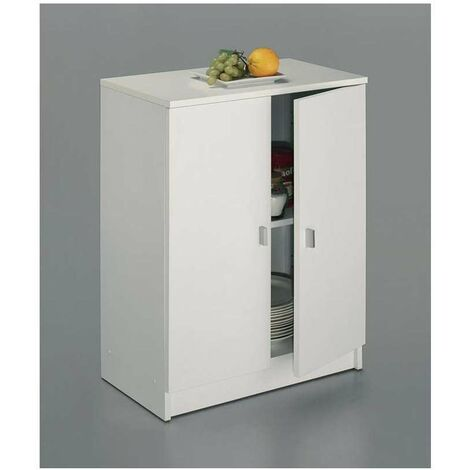 Armario bajo dos puertas en acabado color blanco 60 cm(ancho) 80 cm(altura) 34 cm(fondo) Color Blanco