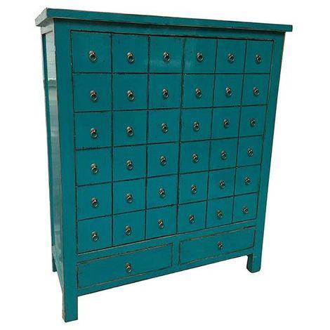 Armario Blue Oriental (102 x 42 x 120 cm)
