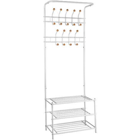armario con 3 estantes para zapatos - organizador de zapatos con ganchos, mueble zapatero de acero con estantes, armario para ordenar zapatos tipo clóset