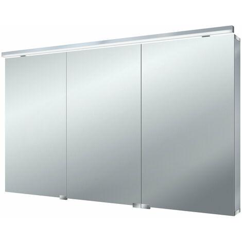 Armario con espejo de luz LED plana Emco asis, 1200mm, cumplimiento: sin iluminación del lavabo - 979705066