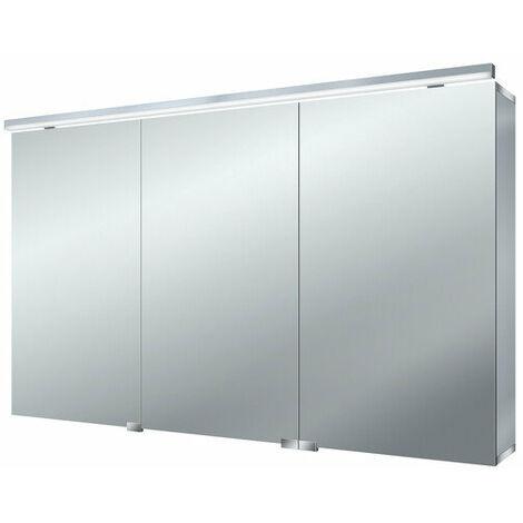 Armario con espejo de luz LED puro Emco asis, 1200mm, cumplimiento: con iluminación del lavabo - 979705284