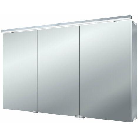 Armario con espejo de luz LED puro Emco asis, 1200mm, cumplimiento: sin iluminación del lavabo - 979705084