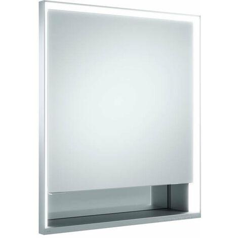 Armario con espejo Keuco Royal Lumos 14311, 1 puerta giratoria, montaje en pared, tope a la derecha, 650mm - 14311171101