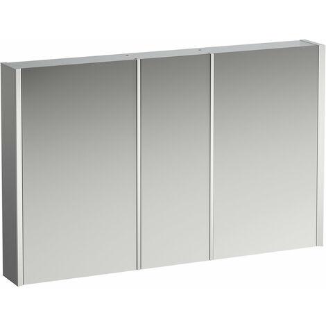 Armario con espejo Running Frame 25, iluminación vertical, tope exterior/derecho, 750x1200 H408804900, cumplimiento: vidrio blanco / lacado posterior - H4088049001451