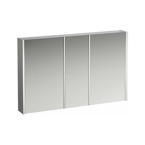 Armario con espejo Running Frame 25, iluminación vertical, tope exterior/derecho, 750x1200, cumplimiento: vidrio blanco / lacado posterior - H4088549001451