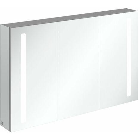Armario con espejo Villeroy & Boch My View 14+ A43312, 1200 x 750 x 173 mm, con iluminación LED vertical, caja de medicinas con cerradura - A4331200