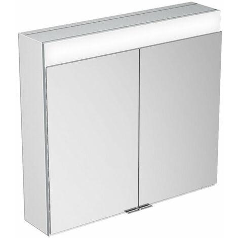 Armario con espejos Keuco Edition 400 21531, montaje en pared, 1 color de luz, 710x650x167 mm - 21531171301