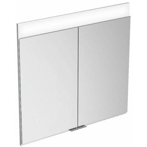 Armario con espejos Keuco Edition 400 21541 con calefacción de espejos, montaje en pared, 710x650x154 mm - 21541171301