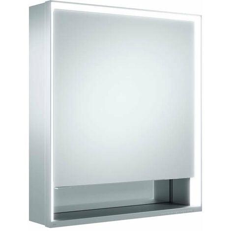Armario con espejos Keuco Royal Lumos 14301, 1 puerta giratoria, de pared, con bisagra a la derecha, 650mm - 14301171101