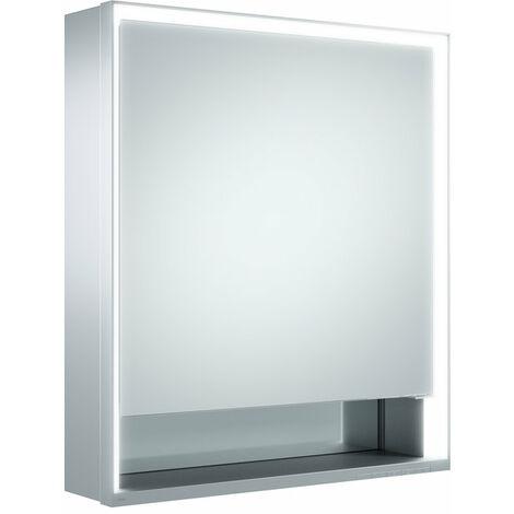Armario con espejos Keuco Royal Lumos 14301, 1 puerta giratoria, de pared, con bisagra a la izquierda, 650mm - 14301171201