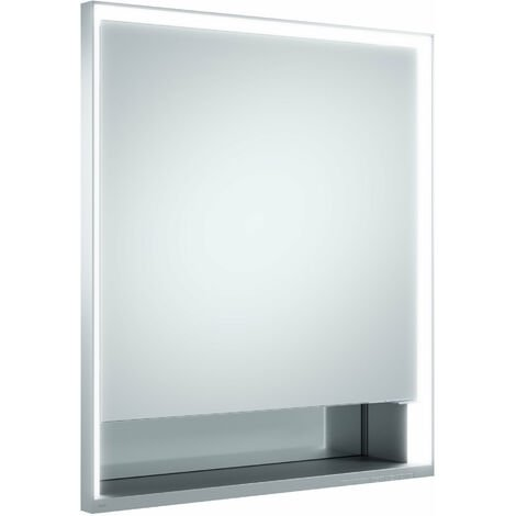 Armario con espejos Keuco Royal Lumos 14311, 1 puerta giratoria, montaje en pared, tope izquierdo, 650mm - 14311171201
