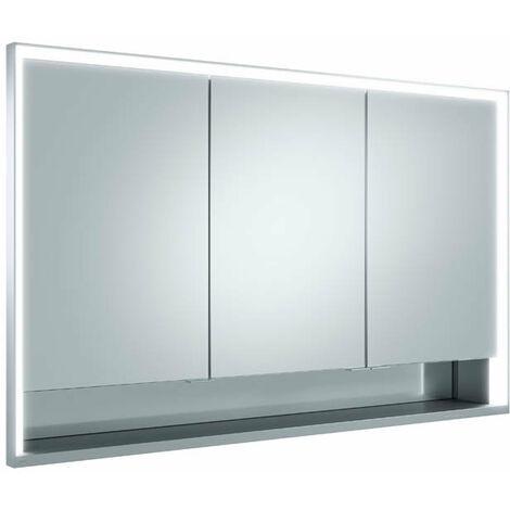 Armario con espejos Keuco Royal Lumos 14315, 3 puertas giratorias, montaje en pared, 1200mm - 14315171301