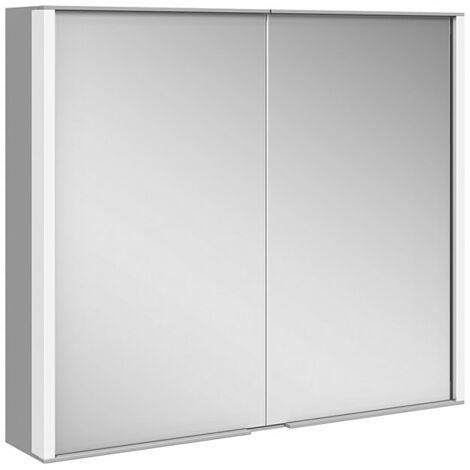 Armario con espejos Keuco Royal Match 12802, 2 puertas giratorias con doble espejo, 800mm - 12802171301