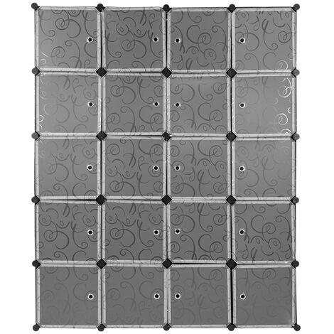 Armario de almacenaje de ropa Estantería por módulos | estructuras de cubo con puerta, fácil montaje, 146*37*182cm