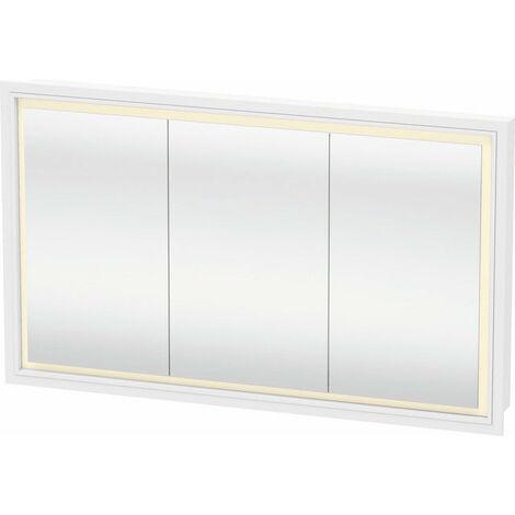 Armario de espejo Duravit L-Cube con iluminación LED, anchura 1200mm (montaje empotrado en la pared) - LC765300000