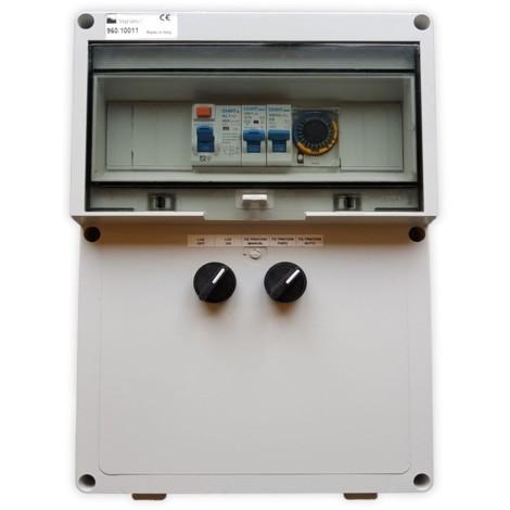 Armario de Maniobra con Transformador 300W - 12V/AC para Bomba de Hasta 1CV con Reloj Automático