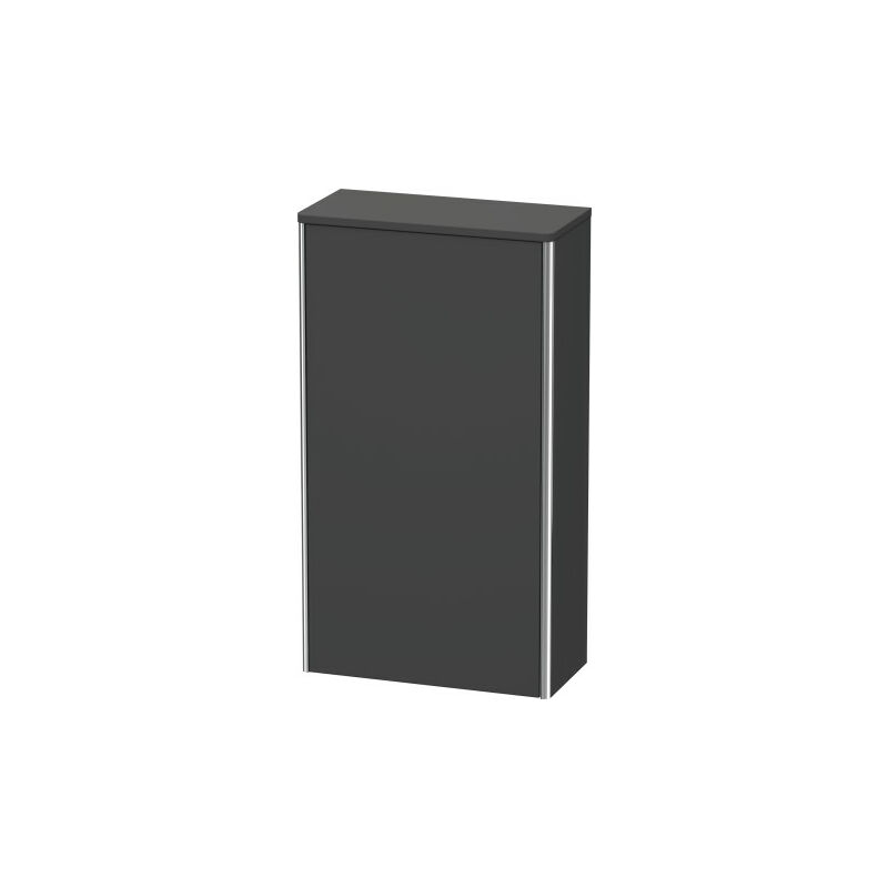 Armario de media altura XSquare 50.0x23.6 cm, 1 puerta, colgado a la izquierda, 2 estantes de vidrio XS1303L, Color frente/cuerpo: Cappuccino laca