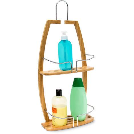 - Armario de medicinas, Estante / repisa de baño, Bambú, 62 x 27.5 x 13 cm, 0.8 Kg, color natural