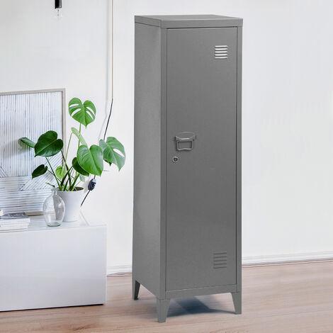 Armario de Metal para archivador de Oficina o Armario de Almacenamiento (127 cm), Color gris