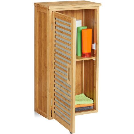 Armario de pared, Mueble de baño, Dos estantes, Balda ajustable, Dos estantes, 66 x 35 x 20 cm, 1 Ud., Marrón
