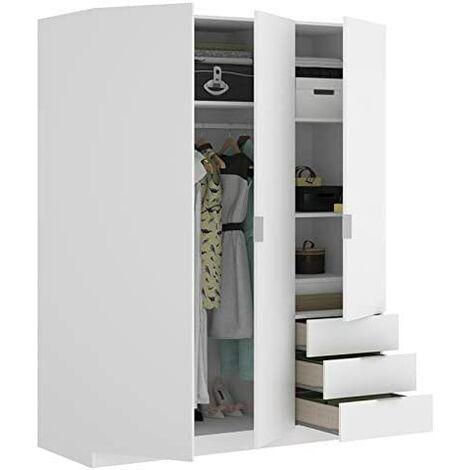 Armario Dormitorio 3 puertas + 3 cajones Abatibles 121 cm ancho ALTO 184cm