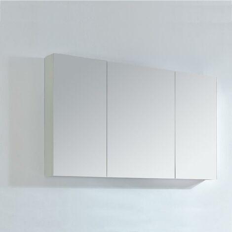 Armario espejo 120 cm LIMPIO color blanco