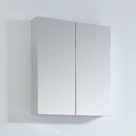 Armario espejo 60 cm LIMPIO color blanco