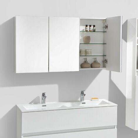 Armario espejo baño 120cm MONTADO SIENA