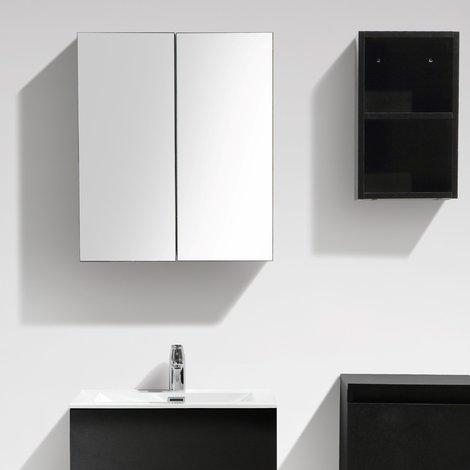 Armario espejo baño 60cm MONTADO tinte Roble Negro SIENA d279bedc7bc6