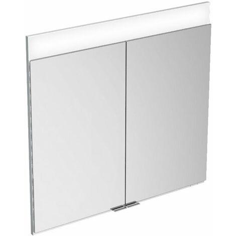 Armario espejo Keuco Edition 400 21511, de pared, 1 color de luz, 710x650x154 mm - 21511171301