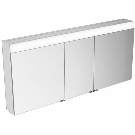 Armario espejo Keuco Edition 400 21533, montaje en pared, 1 color de luz, 1410x650x167mm - 21533171301