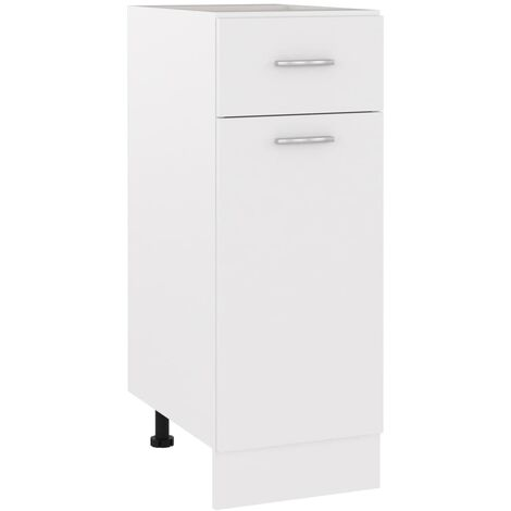 Armario inferior cajón cocina aglomerado blanco 30x46x81,5 cm - Blanco