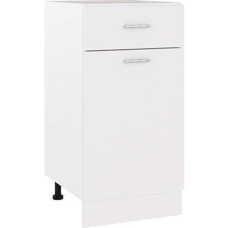 Armario inferior cajón cocina aglomerado blanco 40x46x81,5 cm - Blanco