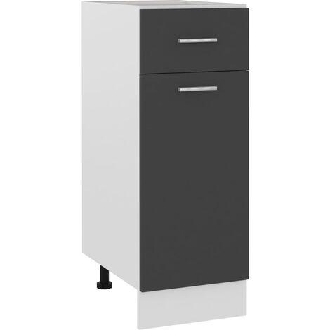 Armario inferior cajón cocina aglomerado gris 30x46x81,5 cm - Gris