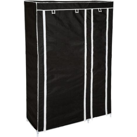 Armario Johanna - armario plegable de acero, armario ropero con estantes para zapatos, mueble multifuncional para dormitorio