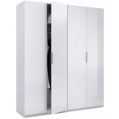Armario Low Cost 4 puertas - Blanco