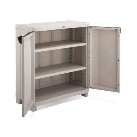 Armario medio 2 estantes 100 x 45 x 90 Cm