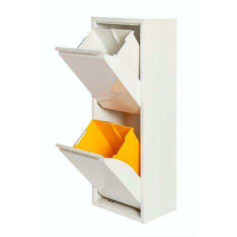 Armario Metálico Reciclaje PAT 2 Blanco/Gris 33,5x25x92H Blanco