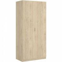 Armario Mueble Organización 81 cm de ancho ALTO 184cm color Natural + Blanco Brillo