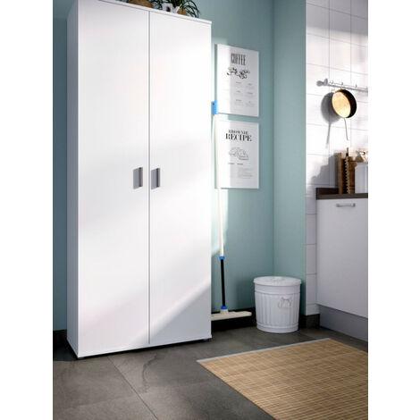Armario multiusos 2 puertas modelo FIT en color blanco