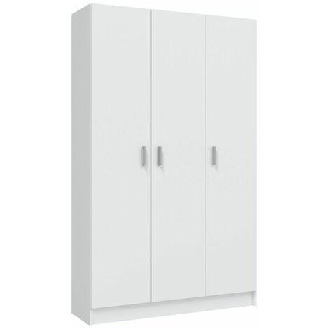 Armario multiusos de 3 puertas - Blanco