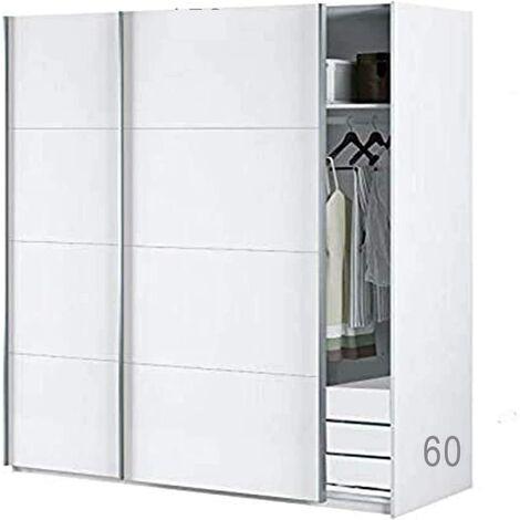 Armario Oficina con Estantes + Cajonera Color Blanco brillo, Medidas: 150 ancho x 204 x 65 cm de Fondo