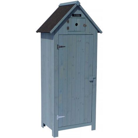 Armario para Jardin Cabanon - 77 x 54.5 x 179 cm - Azul cielo