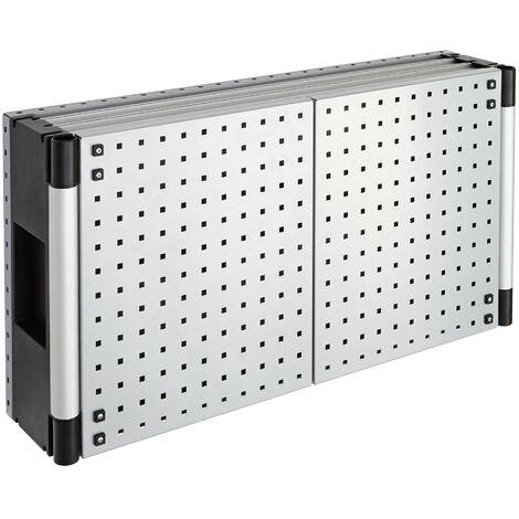 armario porta-herramientas 960 x 500 x 215 mm, con estante, incluye 10 ganchos para sujetar herramientas. - WOLFCRAFT - 6086000