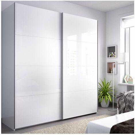 Armario ropero 2 puertas correderas slide 180 cm de ancho - Armario ropero puertas correderas ...