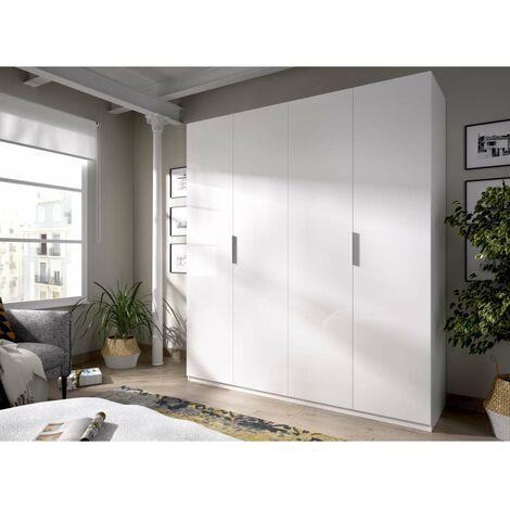 Armario ropero puertas abatibles blanco 180 cm de ancho