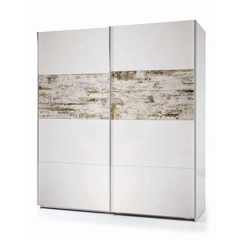 Armario ropero puertas correderas Nordik 180 cm de ancho Color Blanco- Vitange